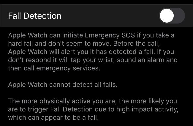 Activer la détection de chute sur l'Apple Watch