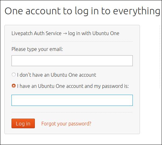 Page Web de connexion à Ubuntu One
