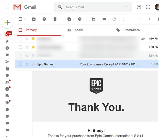Avec la division horizontale, le contenu des e-mails apparaîtra en bas, tandis que la liste des e-mails est en haut.