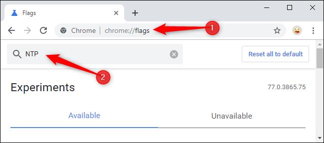 Busque métricas de NTP en la página de métricas de Chrome.