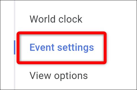 Google Kalender Wählen Sie Ereigniseinstellungen aus