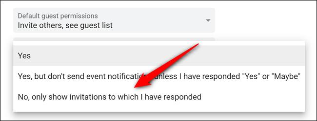 Google Kalender auswählen Nicht nur Einladungen beantwortet
