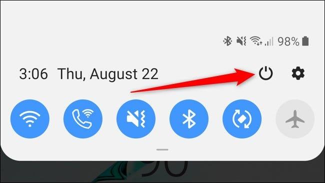 Benachrichtigungsschatten-Ein- / Ausschalter für Samsung Galaxy Note 10 Plus