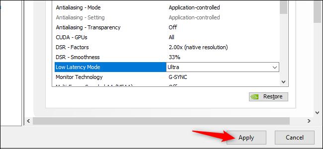 Aktivieren des Ultra Low Latency-Modus in NVIDIA GeForce-Grafiktreibern