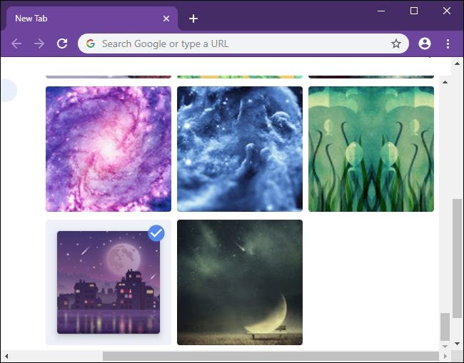 Elija una imagen de fondo para la página Nueva pestaña de Chrome.