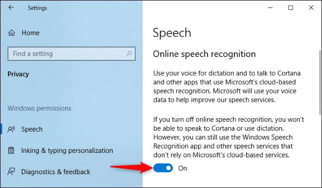 Stoppen Sie die Weitergabe von Cortana-Sprachaufzeichnungen an Microsoft