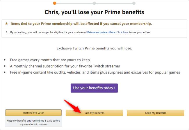 Assistant d'annulation d'Amazon Prime