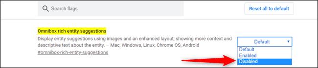 Deaktivieren Sie Rich-Image-Vorschläge in der Chrome-Adressleiste