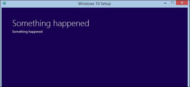 In der Windows 10-Nachricht ist etwas passiert