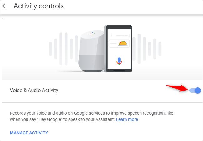 Deaktivieren Sie die Erfassung von Google Assistant-Sprachaufzeichnungen