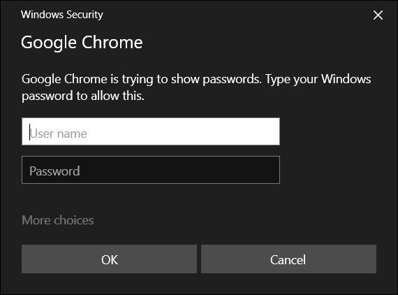 Entrez le nom d'utilisateur et le mot de passe de votre ordinateur pour continuer