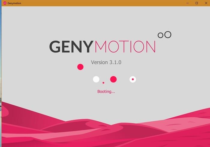 Genymotion Win10 Démarrage 1