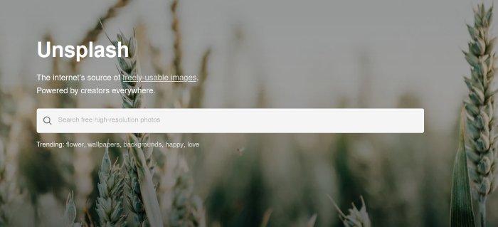 Meilleur site Creative Commons Unsplash 1