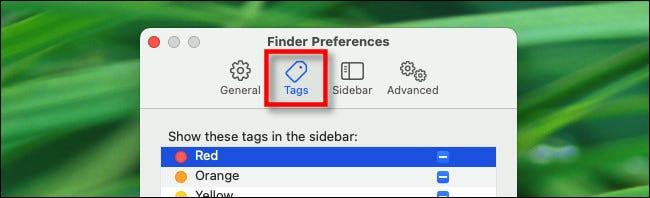 Dans les préférences du Finder, cliquez sur l