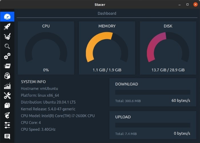 Optimisez Linux avec Stacer Realtime Info