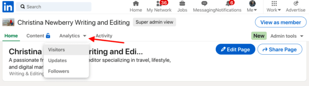 Accéder à LinkedIn Analytics