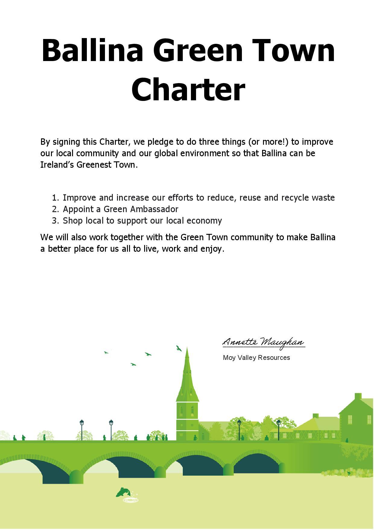 Ballina Green Town Charter Moy Valley Resources IRD Ireland's Greenest Town