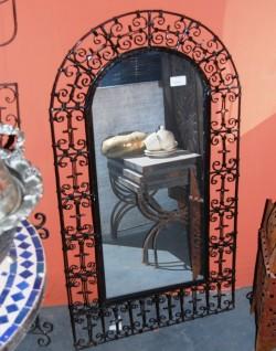 Oosterse Marokkaanse Zilveren en Smeedijzeren Spiegels