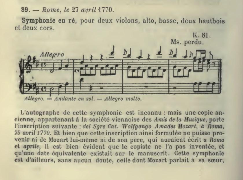Catalogo Wyzewa - de Saint-Foix 89, K.81, Sinfonia in re maggiore