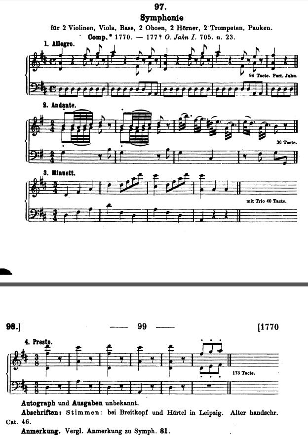 Catalogo Köchel, K.97, sinfonia in re maggiore