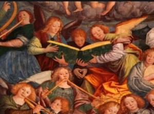 Bianchini, Trombetta, nell'immagine angeli che suonano. Considerazioni Vitali