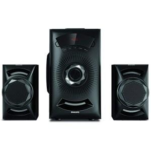 Philips MMS2143B-94 40 W Bluetooth Home Audio Speaker (Black, 2.1 Channel)