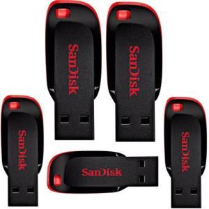Sandisk 32GB Cruzer Blade Pen drive pack of 5