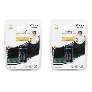 Envie 1100mah 2nos AAA Infinite Plus Rechargeable Ni-MH Battery