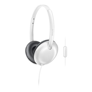 Philips SHL 4405BK-00 Wired Headset with Mic (White, On the Ear)