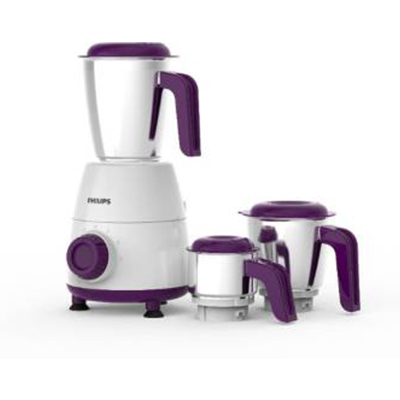 Philips Daily Collection HL7505-00 500 W Mixer Grinder (White, 3 Jars)