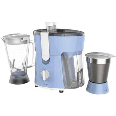 Philips Daily Collection HL7575 600 W Juicer Mixer Grinder (Celestial Blue & Bright White, 2 Jars)