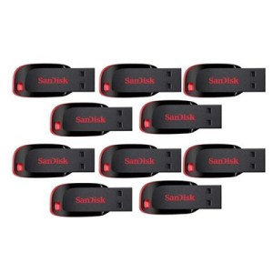 sandisk 32gb pack of 10 pendrive