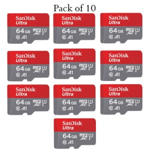 sandisk 64gb a1 memory card pack of 10