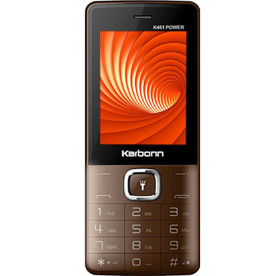 Karbonn K451 Power Dual Mobile Phone (Coffee-Black)