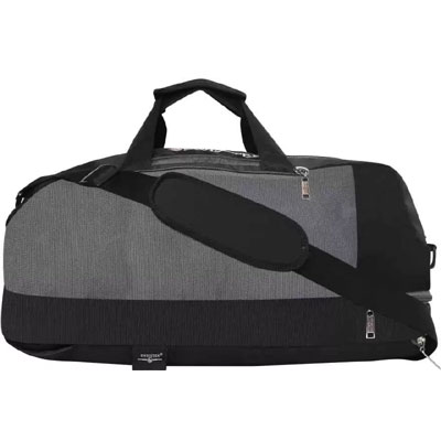 Swisstek BP-016 Duffle Cum Sports Back Pack Black Grey