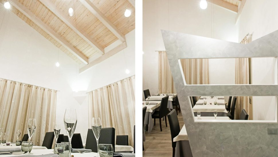 Ristorante legno prefabbricato Cavallo Scosso 04 dettagli interno - Mozzone Building System