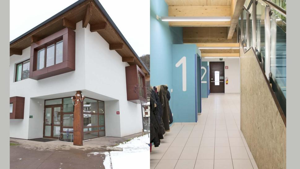 Scuola Elementare in legno BBS a Monterosso, Cuneo