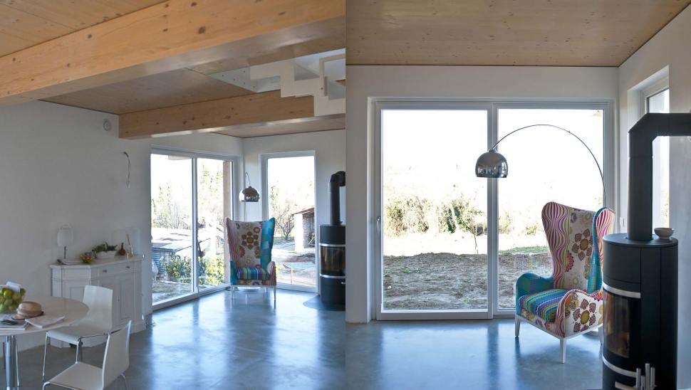 casa in legno bbs di 2 piani a Cherasco - Interni