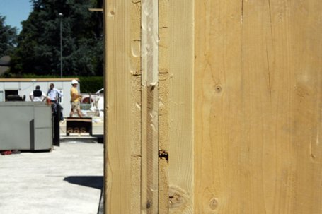 Cantiere residenze in legno x-lam BBS a Vimercate, Monza