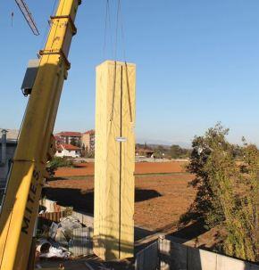 Condominio in legno bioedilizia Piossasco - vano ascensore