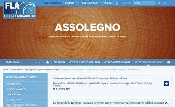 La Regione Toscana taglia i costi di urbanizzazione per gli edifici in legno