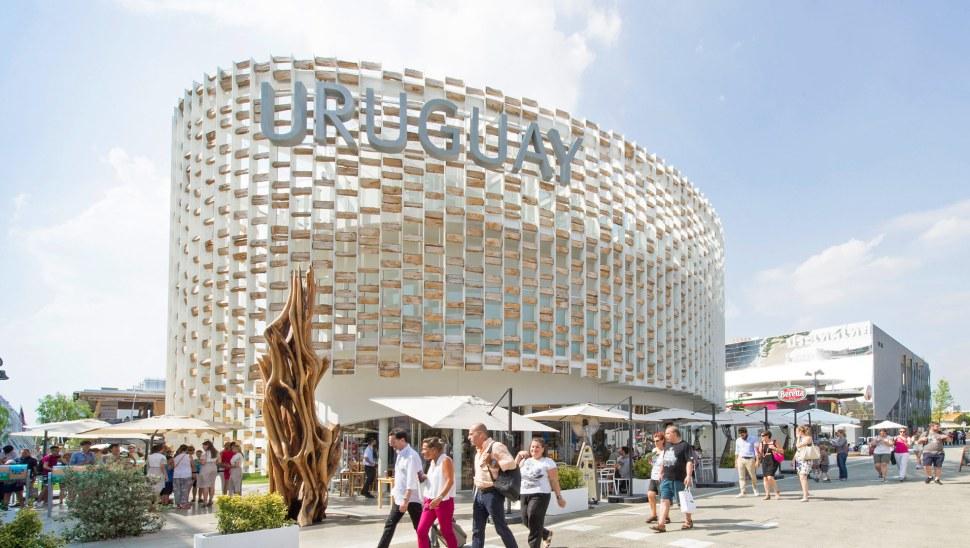 Padiglione in legno Uruguay expo2015 - esterno facciata