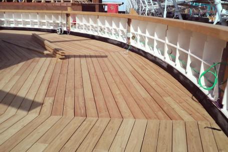 Cantiere Padiglione in legno birra Moretti Expo 2015 - Terrazzo - Mozzone Building System