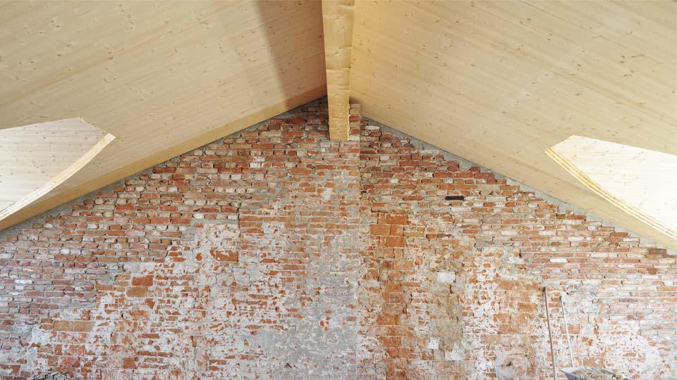 Tetto legno BBS edificio 600mq Mozzone BS