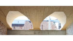 Tetto Legno BBS edificio 600mq - mozzone building system
