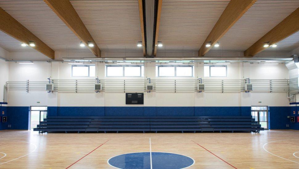 Copertura legno lamellare Polivalente Brescia Via Collebeato 03 - Mozzone Building System