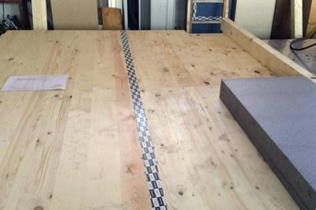 Preassemblaggio pareti legno xlam con cappotto isolante 01 - Mozzone Building System