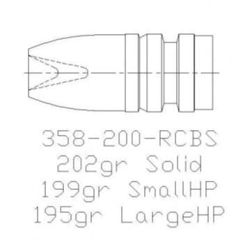 mp molds 358-200 rcbs hollow point mold