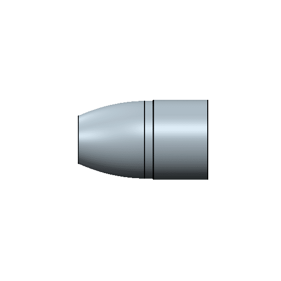 9mm 135 flat round nose flat base mold