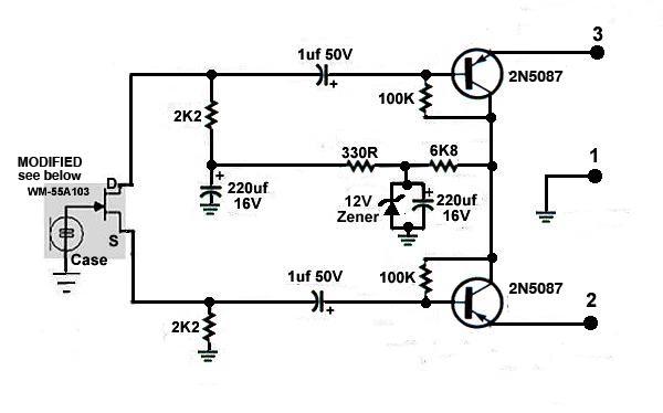 phantom power supply schematic